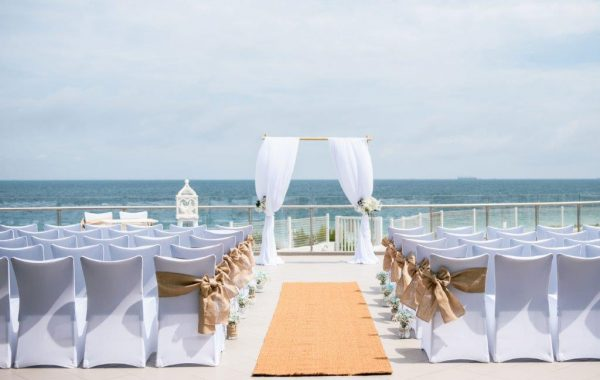 ceremony on our balcony
